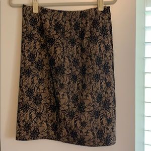 NWT Talbots lace patterned skirt